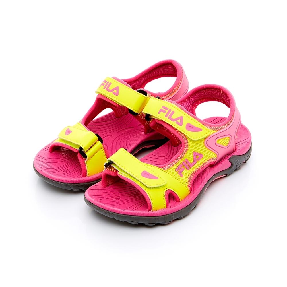 FILA KIDS 中童MD運動涼鞋-黃桃 2-S430T-292 (19-24cm)