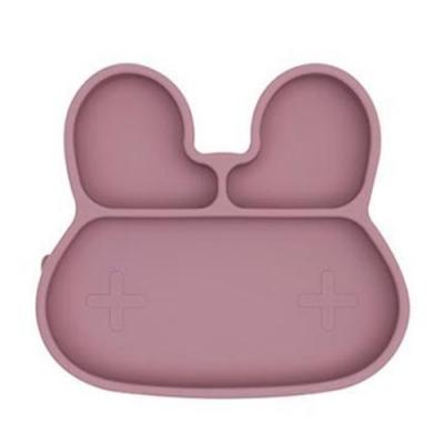 澳洲We Might Be Tiny 矽膠分隔餐盤兔寶寶-煙燻玫瑰