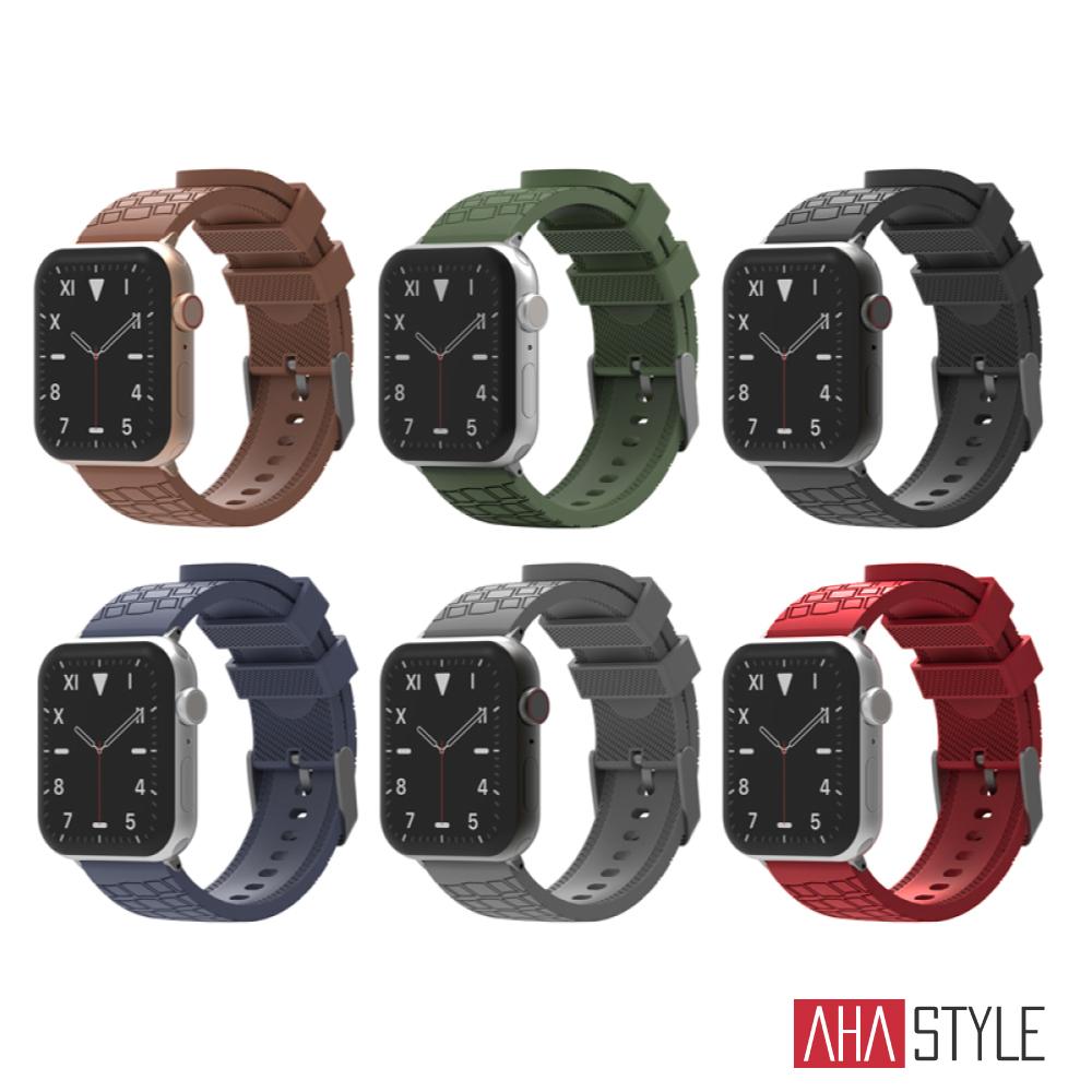 AHAStyle Apple Watch 專用運動矽膠錶帶 越野款(42/44mm)