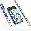 【ekax】手機背貼卡片夾/長頸繩/短手腕繩(夏日風情)