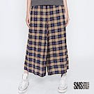 SNS 漫遊蘇格蘭配色格紋鬆緊寬褲(1色)