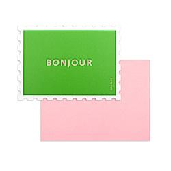 Dailylike 郵票造型卡片信封組-07 日安