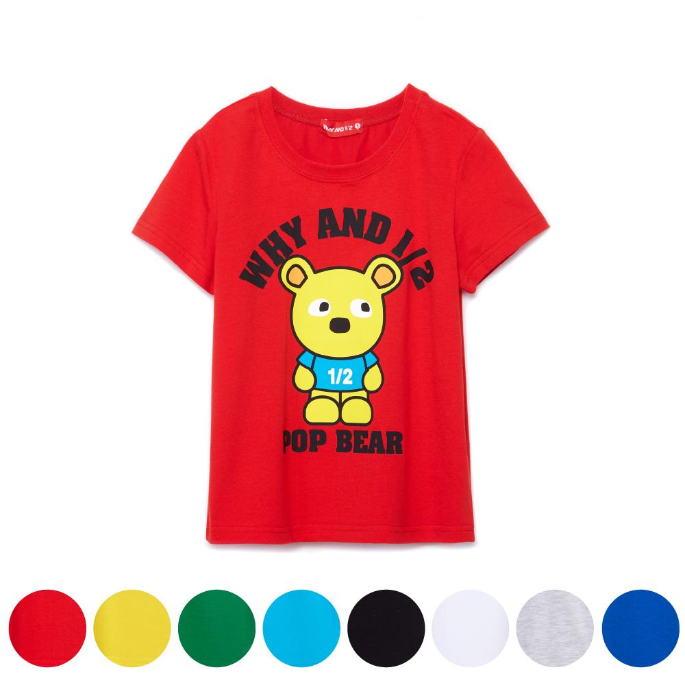 WHY AND 1/2 普普熊棉質萊卡T恤-親子裝 5Y~10Y 多色可選