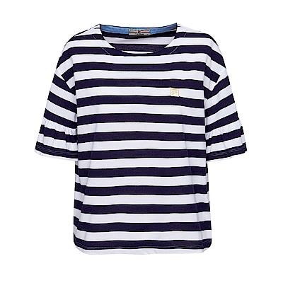 FILA 女款圓領短袖T恤-白色 5TET-1709-WT