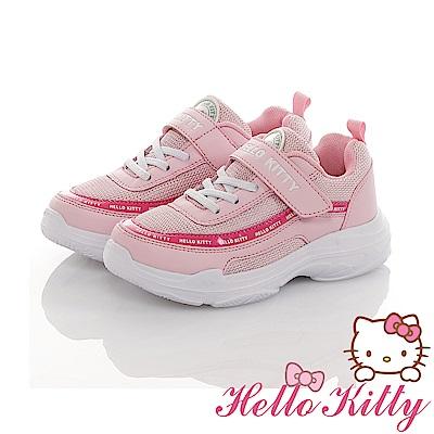 HelloKitty親子鞋 輕量抗菌防臭減壓老爹鞋童鞋-粉