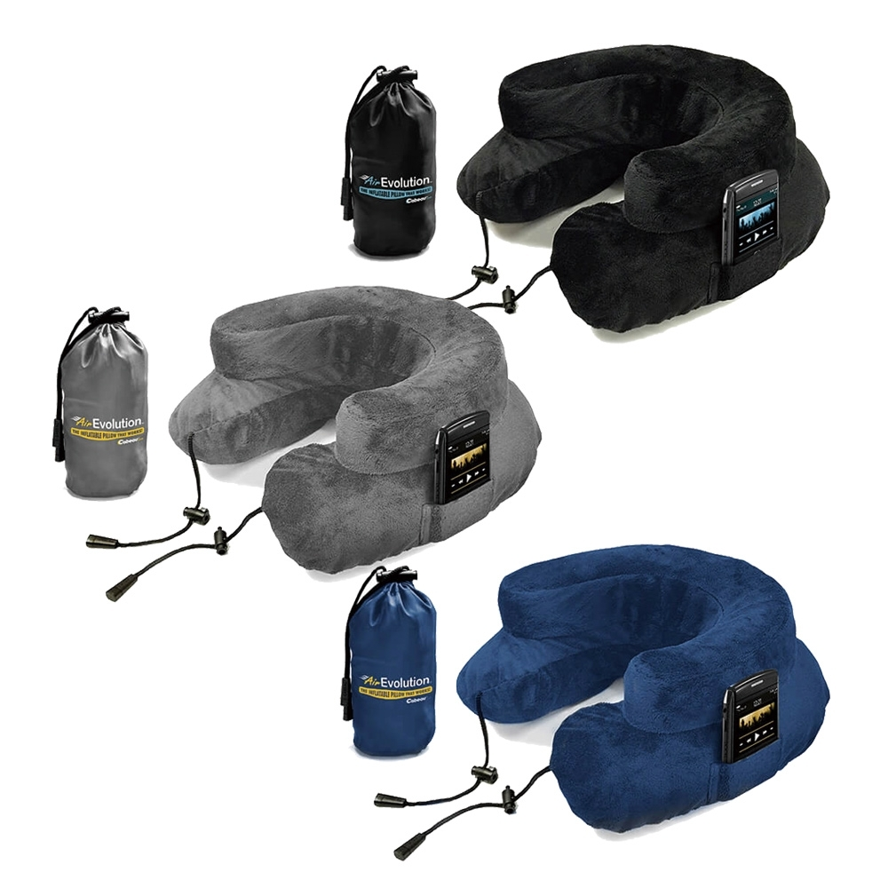 【時時樂】CABEAU 專利進化護頸充氣枕-三色