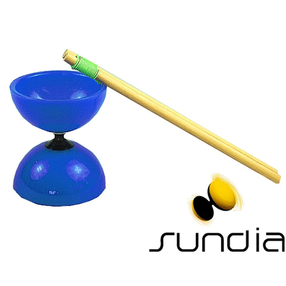 三鈴SUNDIA-台灣製造FLY長軸培鈴扯鈴(附木棍、扯鈴專用繩)藍色
