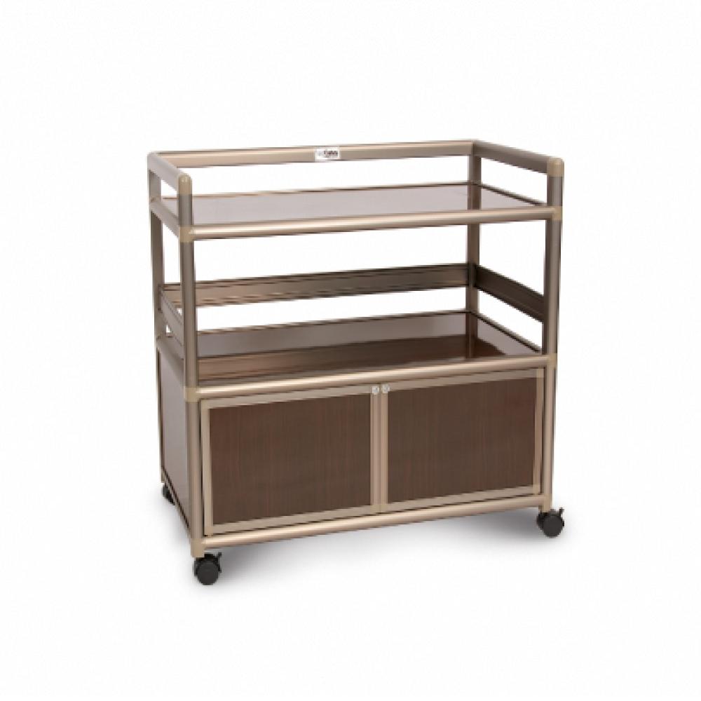 Cabini小飛象-黑桃木得意2.5尺鋁合金餐櫃73.5x50.8x83.6cm