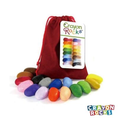 美國【Crayon Rocks】酷蠟石 16顆, 隨身袋 | 三點握姿專利