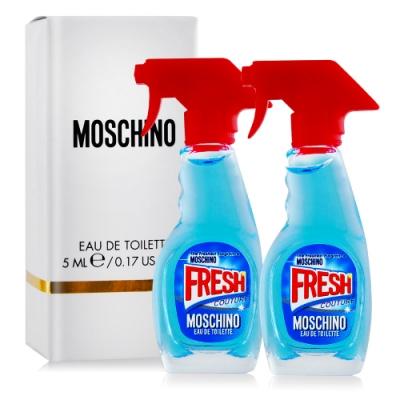 (期效品)Moschino Fresh Couture小清新清潔劑女性淡香水5mlX2-國際航空版-期效202101