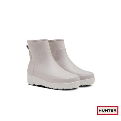 HUNTER - 女鞋 - Refined Creeper平底切爾西踝靴 - 灰