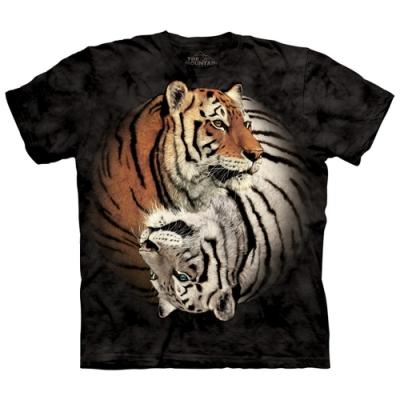 摩達客-美國The Mountain 陰陽眼白虎 純棉環保短袖T恤