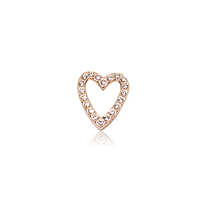 HOURRAE 永恆之心 鏤空鑽心 人氣玫瑰金系列 小飾品