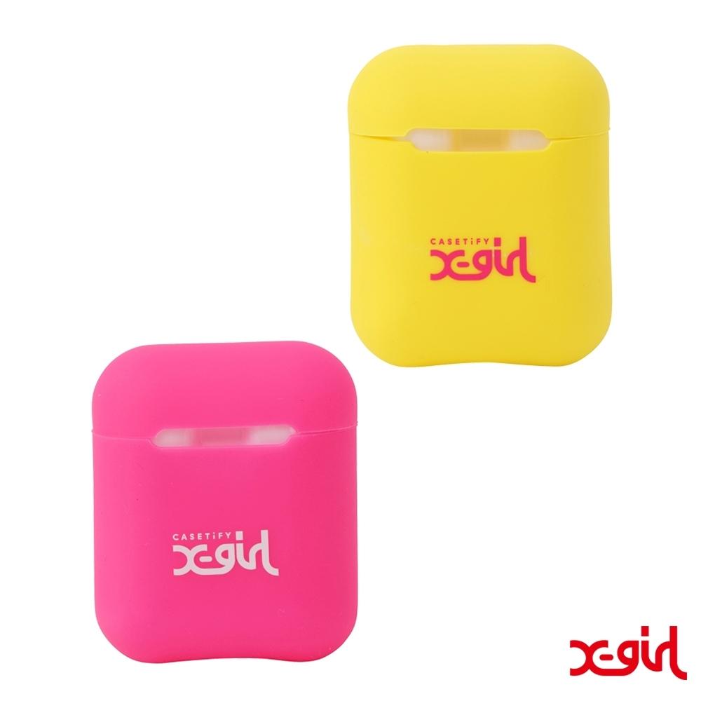 X-girl × CASETiFY AirPods CASE SET 聯名AirPods耳機套-黃粉