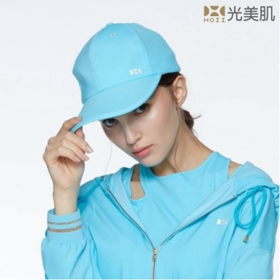 HOII光美肌-后益先進光學布-機能美膚光防曬棒球帽(藍光)