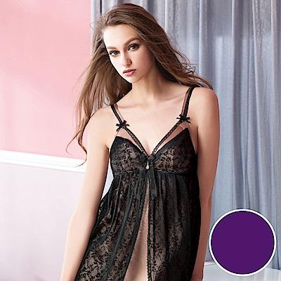 華歌爾睡衣-性感 M-L 裙裝睡衣(紫)