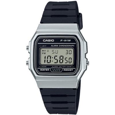 CASIO 方型復古造型電子腕錶-白(F-91WM-7A)/28.5mm