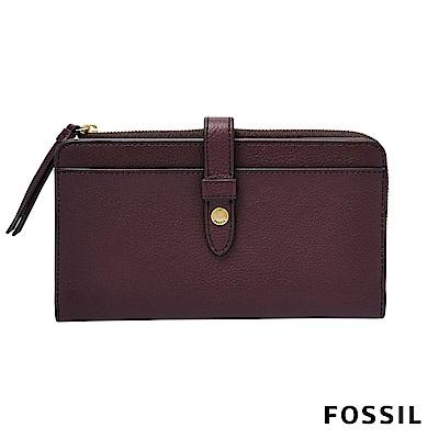 FOSSIL FIONA 多功能長夾-暗紅色