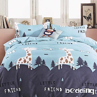 BEDDING-活性印染5尺雙人薄床包涼被組-小森林