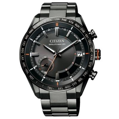 CITIZEN GPS 廣告款 宇宙旗艦衛星對時鈦金屬男錶(CC3085-51E)-黑/43.5mm