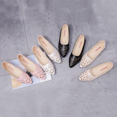 KEITH-WILL時尚鞋館舒適簍空雕花經典時尚尖頭平底鞋
