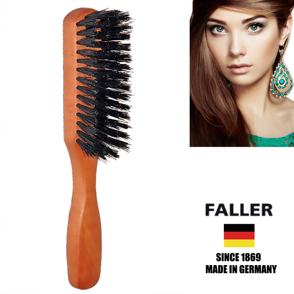 FALLER德國製梨木黑豚鬃隨身美髮梳 (一入)