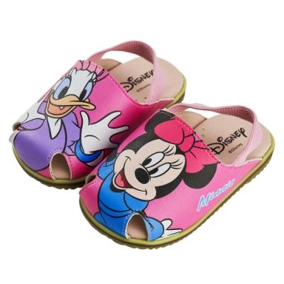 迪士尼童鞋 米妮 不對稱護趾造型寶寶涼鞋-桃(柏睿鞋業)
