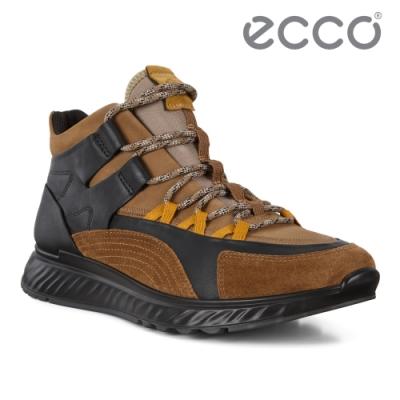 ECCO ST.1 M 適動拼接多色運動休閒鞋 男鞋 彩色/褐色/黑色
