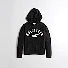 HCO Hollister 海鷗 經典刺繡大海鷗文字連帽T恤(女)-黑色