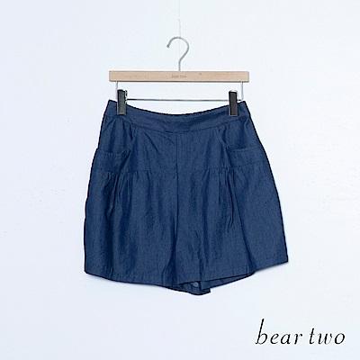 beartwo 清涼碧藍色調口袋素面短褲(二色)