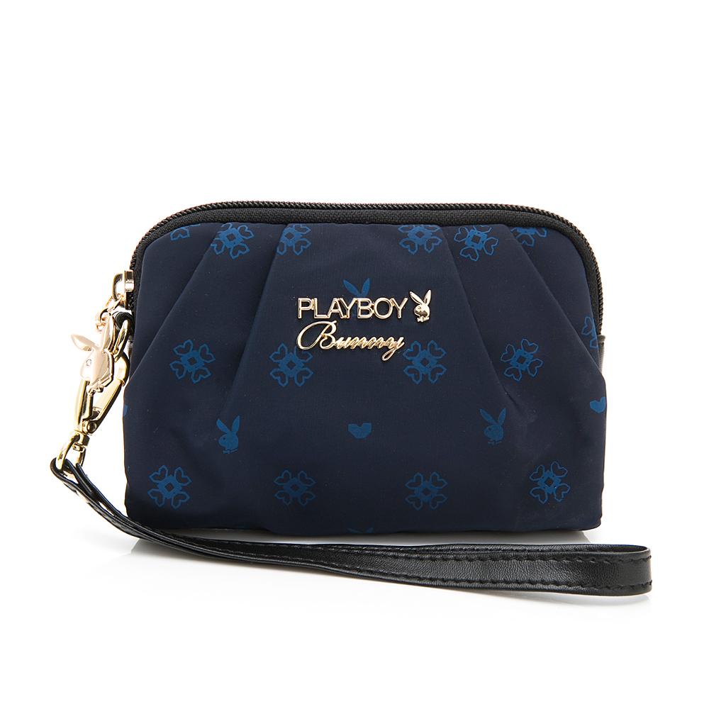 PLAYBOY- 零錢包附手挽帶  永恆深藍 -藍色