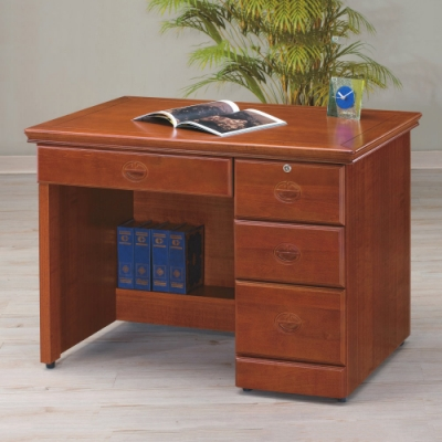 MUNA 實木樟木色3.5尺書桌/辦公桌(122)  104.5X65X80cm