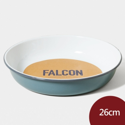 Falcon 獵鷹琺瑯 琺瑯圓形深盤 26cm 灰白