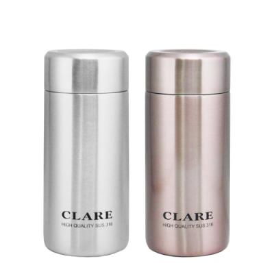 CLARE 316陶瓷全鋼保溫杯-230ml-2入組