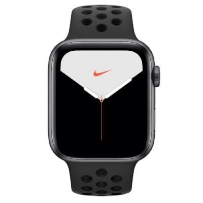 [無卡分期-12期]Apple Watch Nike S5(GPS+網路)44mm太空灰鋁錶殼黑錶帶