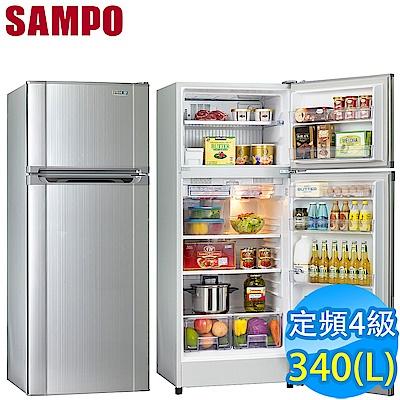 聲寶340L經典品味雙門冰箱SR-L34G S2