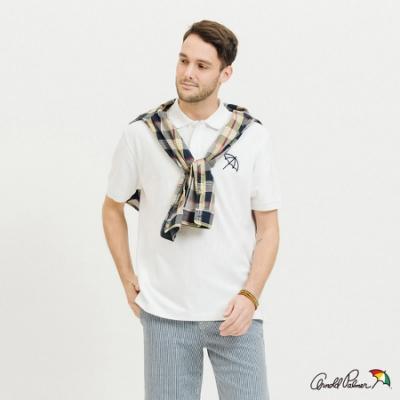 Arnold Palmer-男裝-基本款大傘快乾POLO衫-白