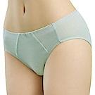 思薇爾 豬寶貝自由風系列M-XXL素面中腰三角內褲(羽絨藍)