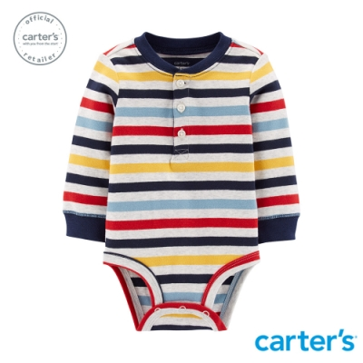 Carter's台灣總代理  美式條紋包屁衣