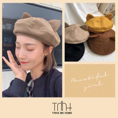 TMH-可愛貓咪貝蕾帽-4色