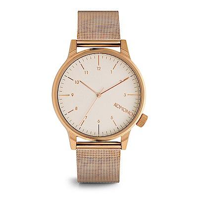 KOMONO Winston Royale 腕錶-玫瑰金x白/ 41 mm