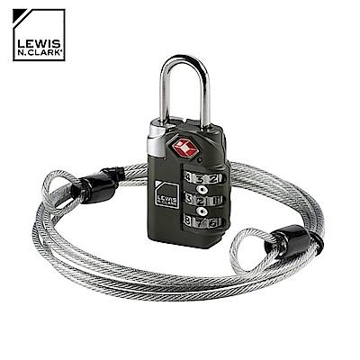 Lewis N. Clark TSA海關纜繩密碼鎖 TSA83 / 黑色