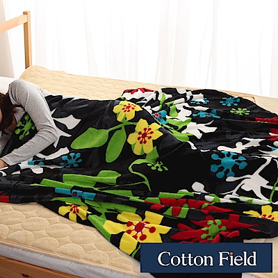 棉花田 挪威森林 時尚印花創意隨意毯(130x200cm)