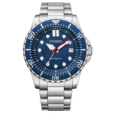 CITIZEN星辰Mechanical機械錶不鏽鋼運動錶款--藍面(NJ0121-89L)