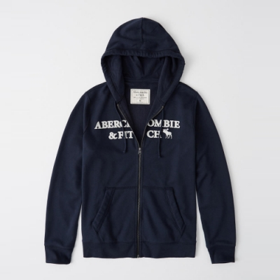 AF a&f Abercrombie & Fitch 帽T外套 藍色 1359