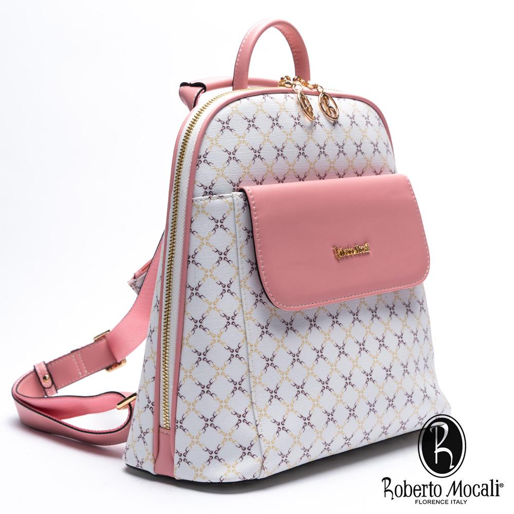 Roberto Mocali - 義大利諾貝兔粉色愛戀質感系側背後背包