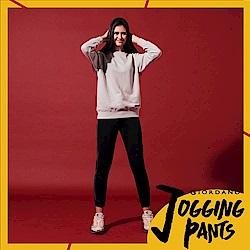 GIORDANO 女裝側邊撞色設計運動束口褲-09 標誌黑