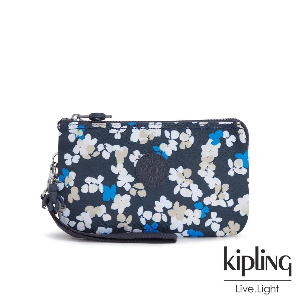 Kipling 清新手繪碎花多層配件包-CREATIVITY XL