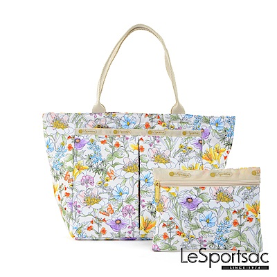 LeSportsac - Standard手提水餃包-附化妝包 (盛夏/白)