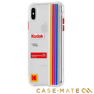 美國 CASE●MATE iPhone Xs / X Kodak柯達聯名款強悍防摔殼-透明